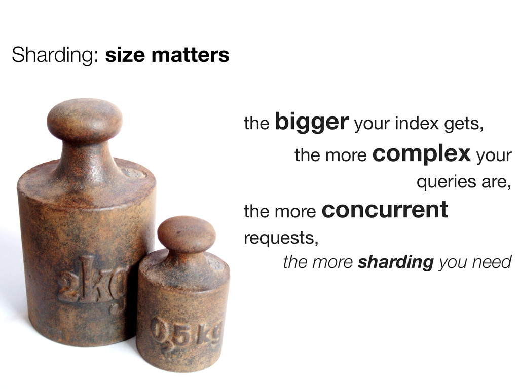 Sharding: size matters the bigger your index ge...
