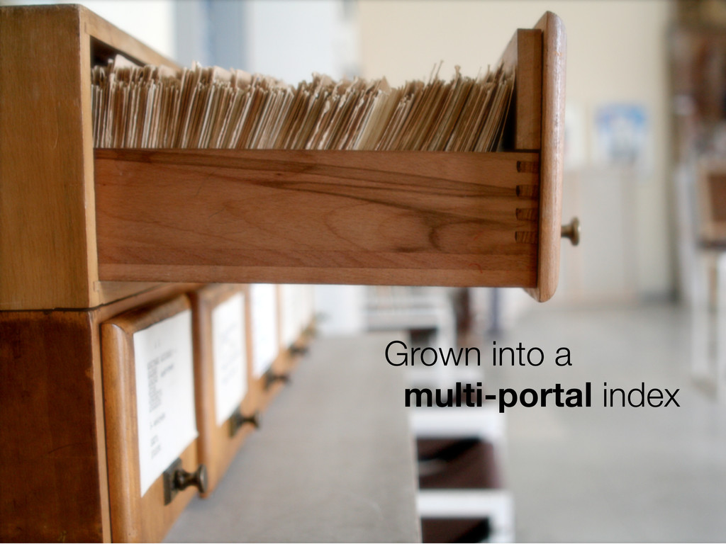 Grown into a multi-portal index