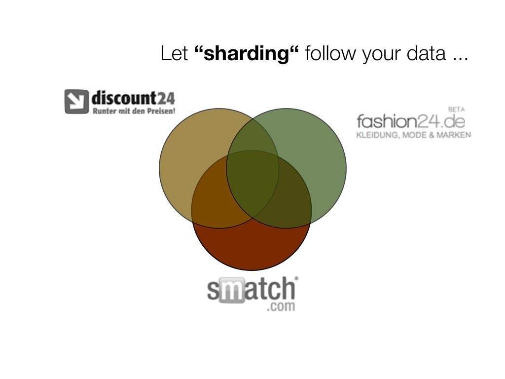 "Let ""sharding"" follow your data ..."