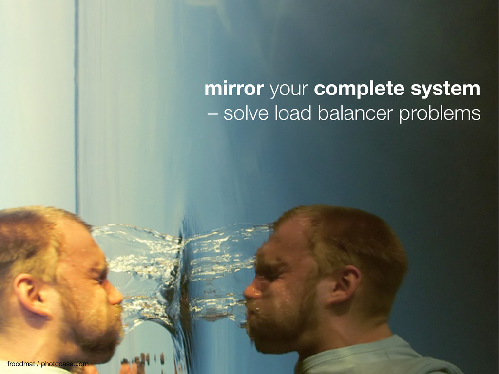 mirror your complete system – solve load balanc...