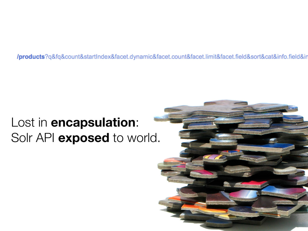 Lost in encapsulation: Solr API exposed to worl...