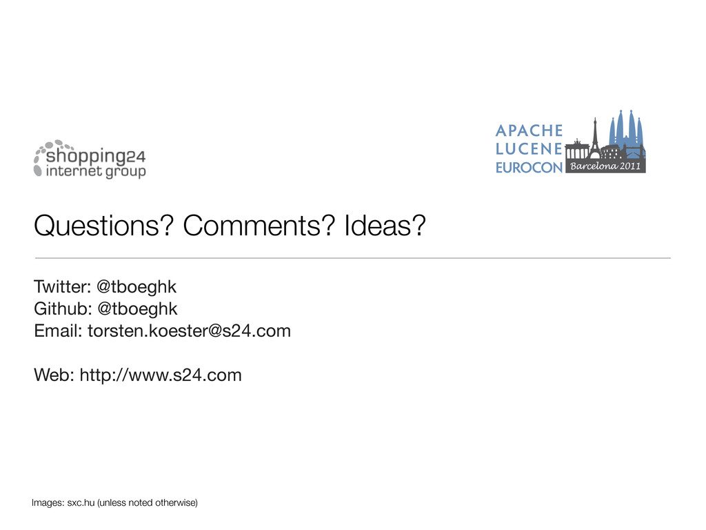 Questions? Comments? Ideas? Twitter: @tboeghk G...