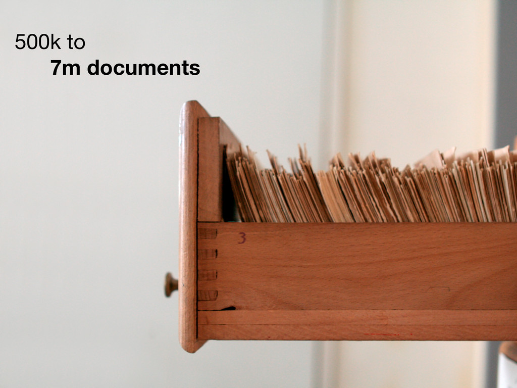 500k to 7m documents