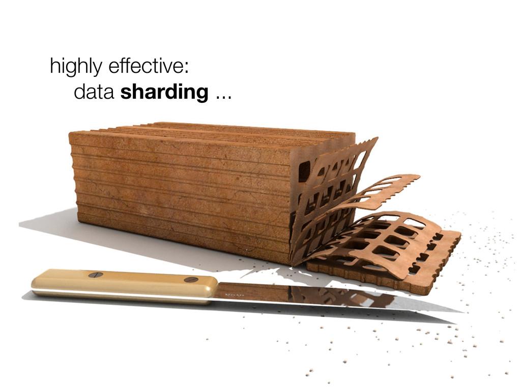 highly effective: data sharding ...