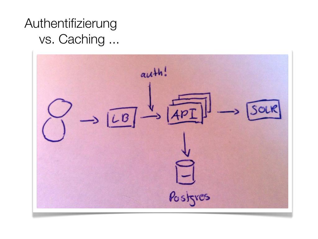 Authentifizierung vs. Caching ...