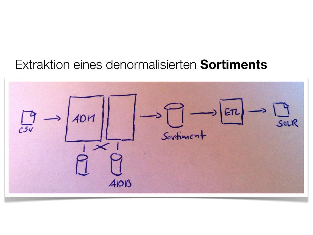 Extraktion eines denormalisierten Sortiments