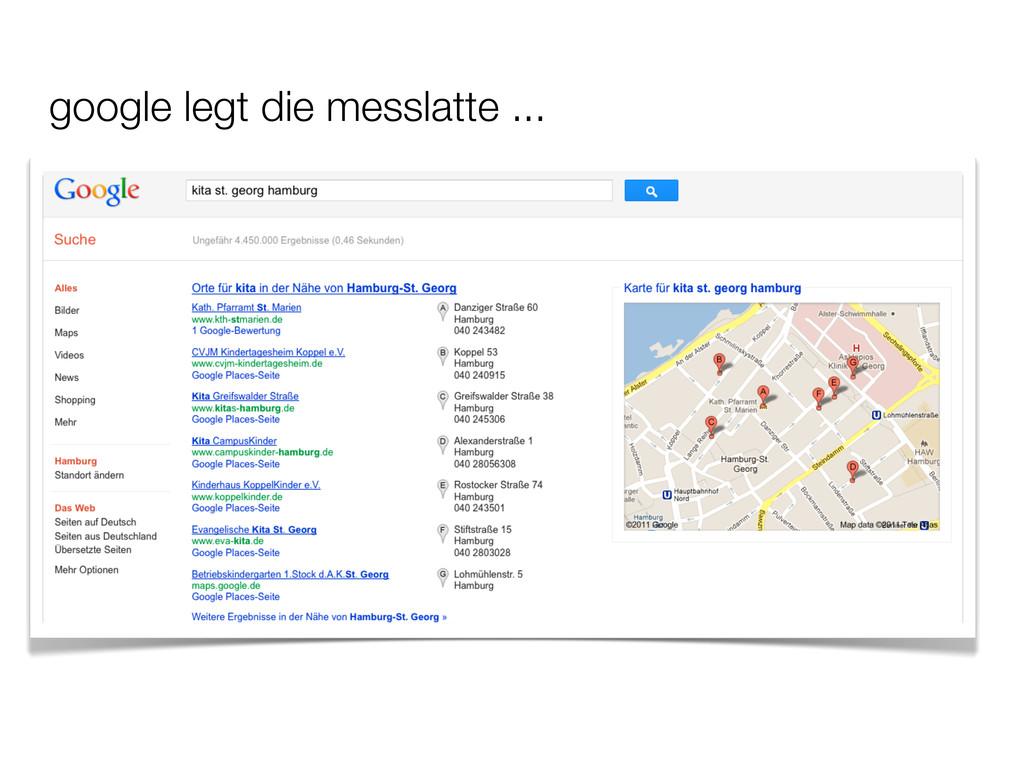 google legt die messlatte ...