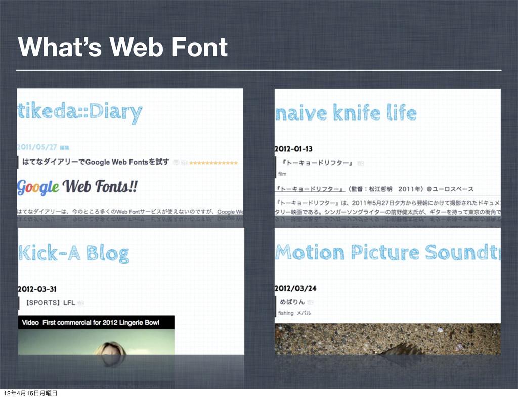What's Web Font 124݄16݄༵