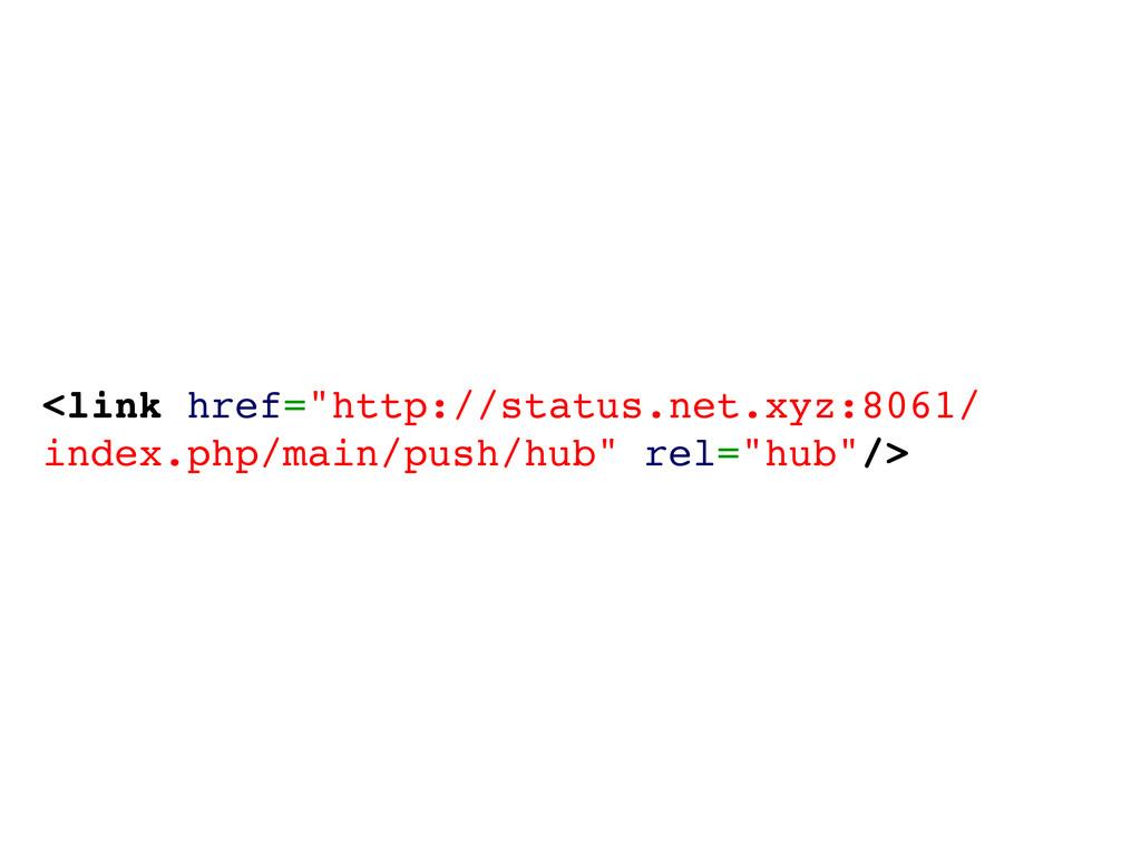 "<link href=""http://status.net.xyz:8061/ index.p..."