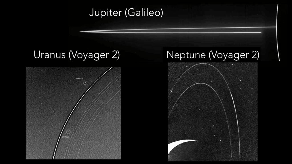 Uranus (Voyager 2) Jupiter (Galileo) Neptune (V...