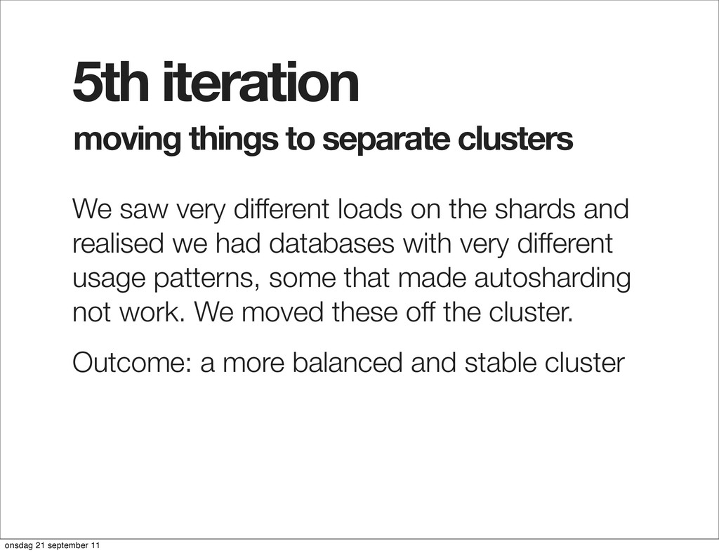moving things to separate clusters 5th iteratio...