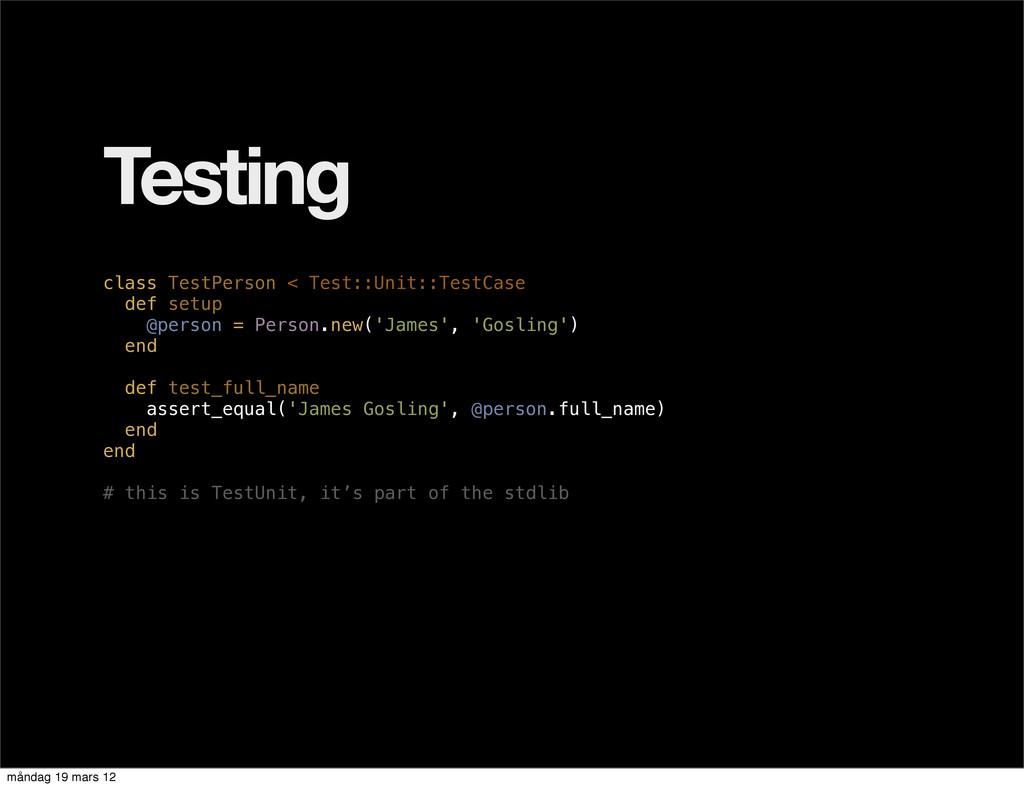 Testing class TestPerson < Test::Unit::TestCase...