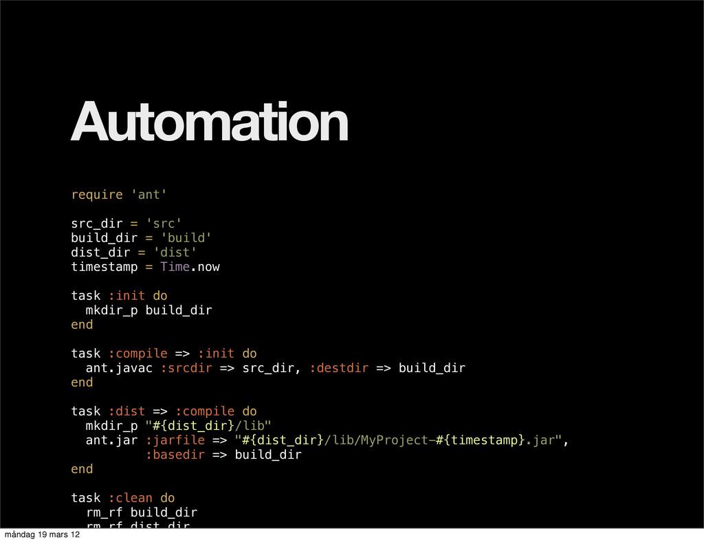 Automation require 'ant' src_dir = 'src' build_...