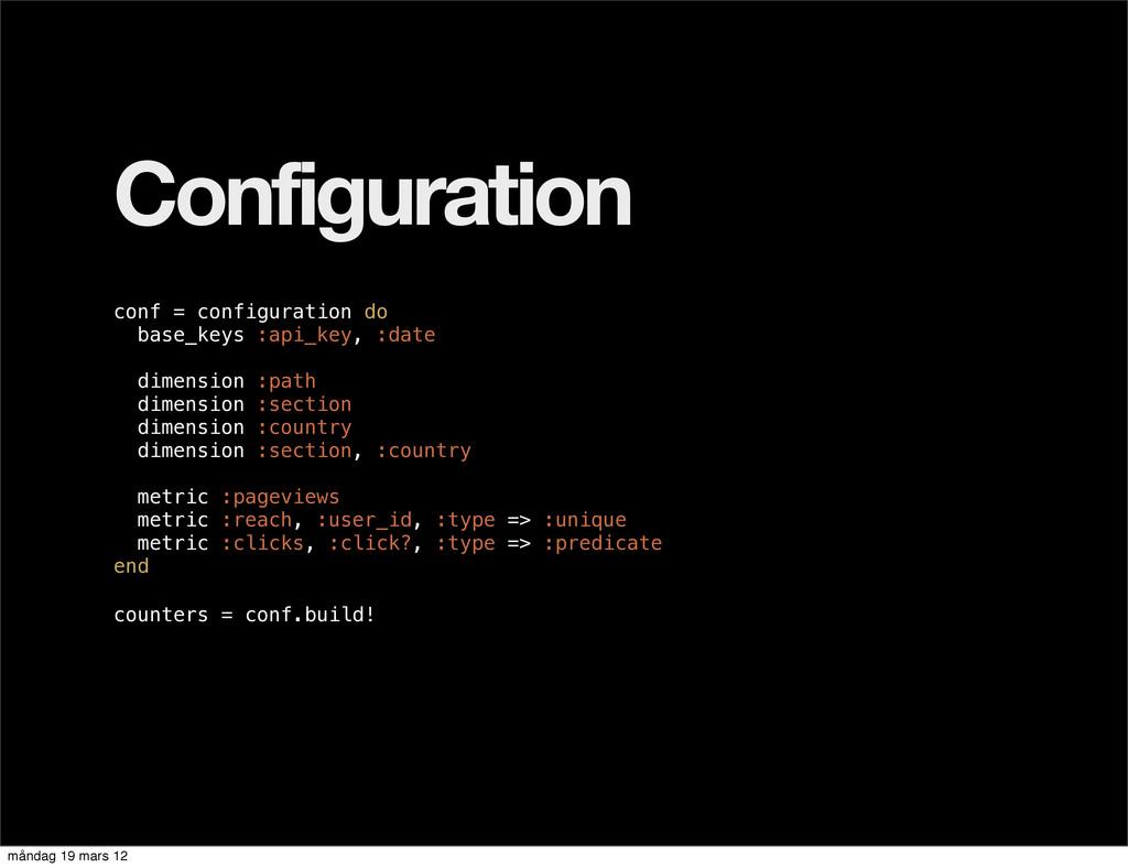 Configuration conf = configuration do base_keys...