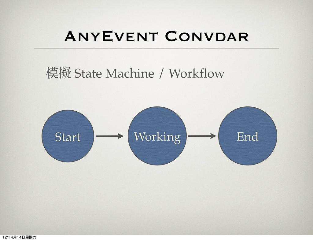 AnyEvent Convdar ٖ State Machine / Workflow Sta...
