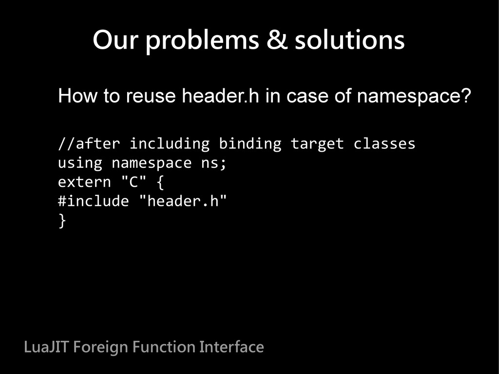 How to reuse header.h in case of namespace? //a...