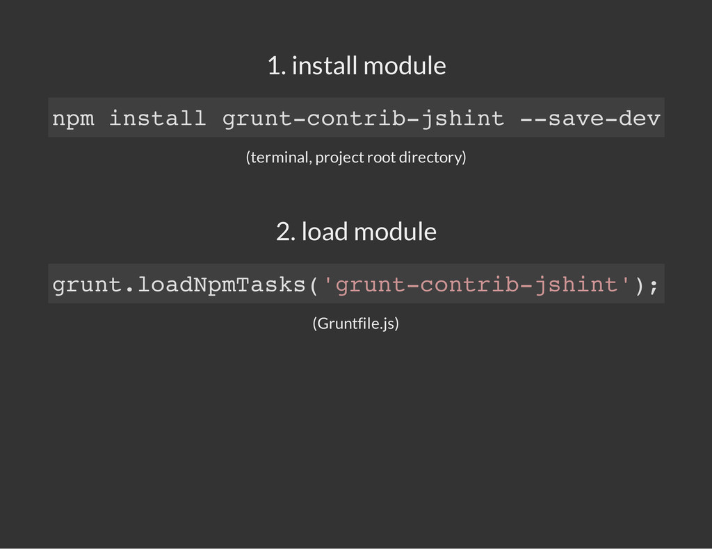 1. install module (terminal, project root direc...