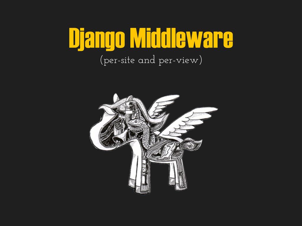 Django Middleware (per-site and per-view)