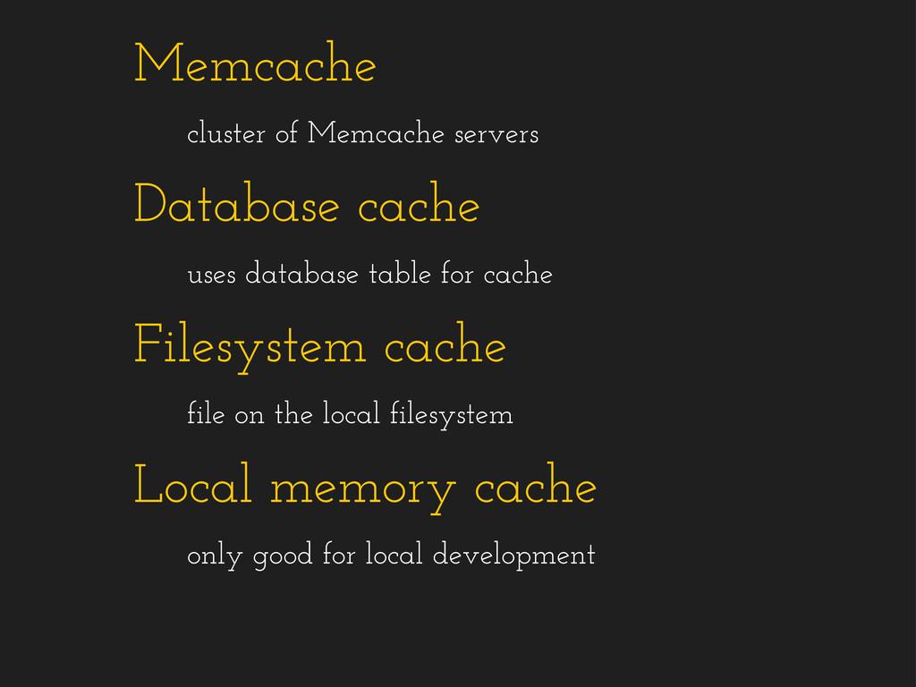 Memcache cluster of Memcache servers Database c...