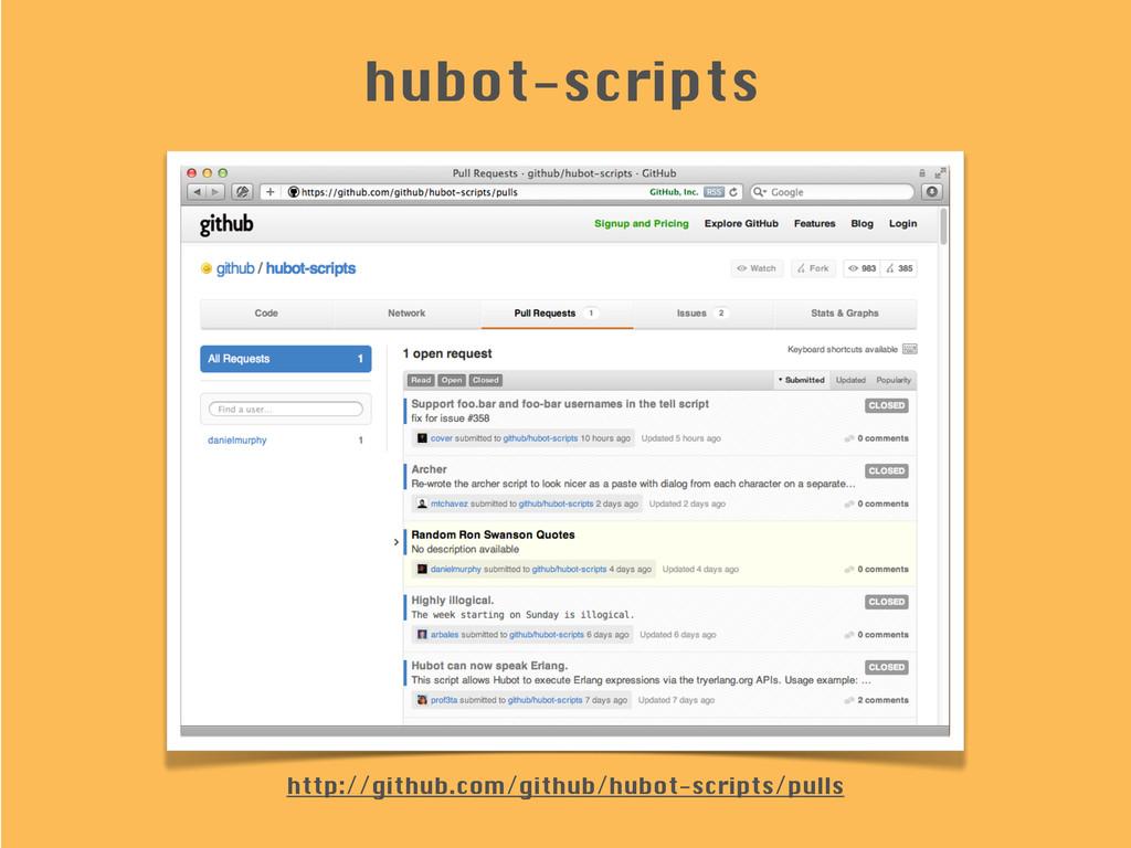 hubot-scripts http://github.com/github/hubot-sc...