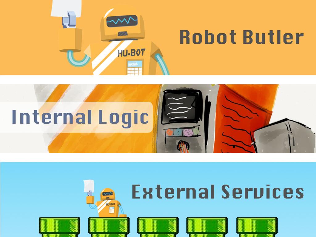 Internal Logic External Services Robot Butler
