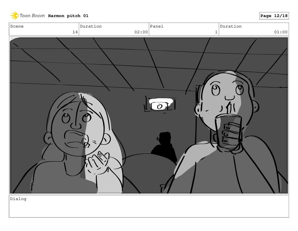 Scene 14 Duration 02:00 Panel 1 Duration 01:00 ...