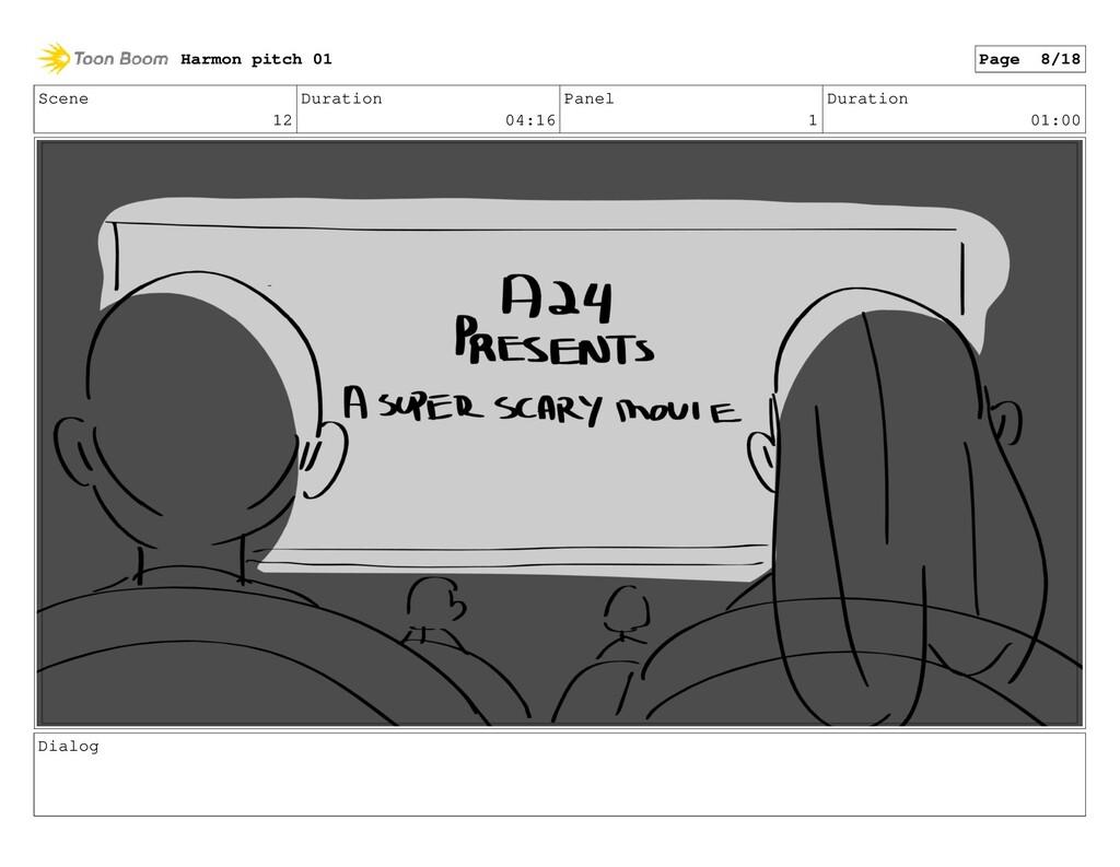 Scene 12 Duration 04:16 Panel 1 Duration 01:00 ...