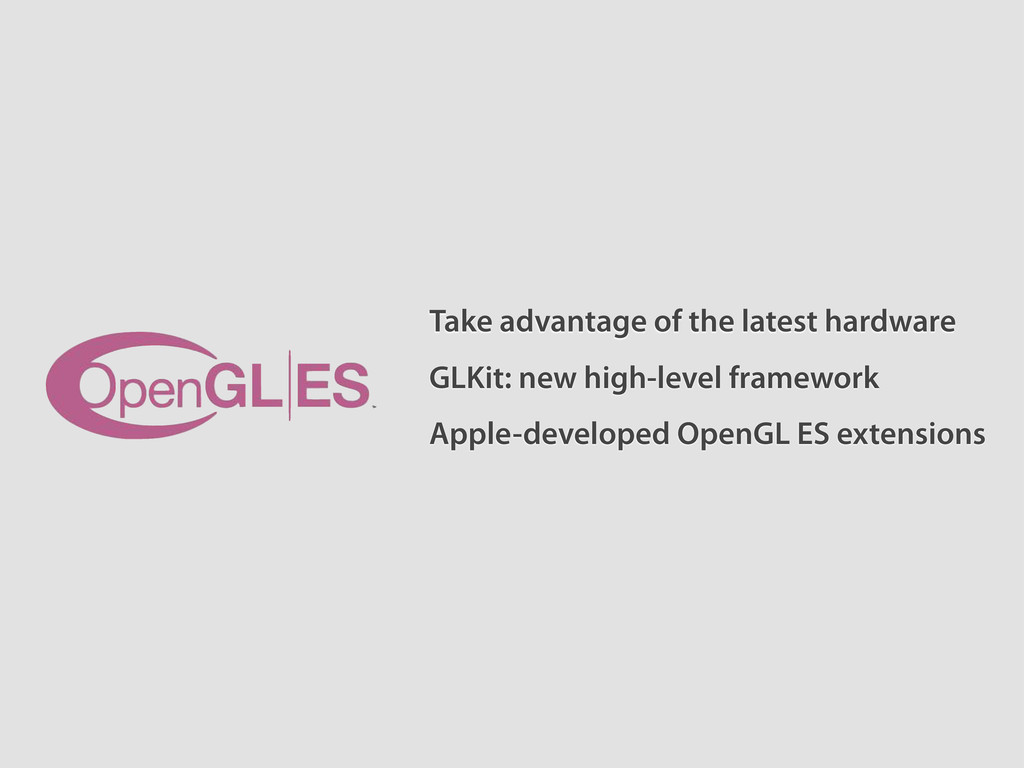 Take advantage of the latest hardware Apple-dev...