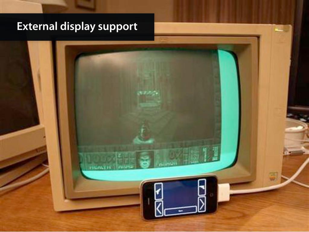 External display support