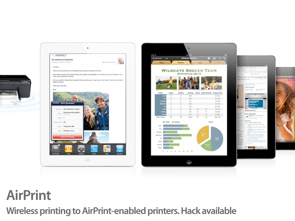 AirPrint Wireless printing to AirPrint-enabled ...