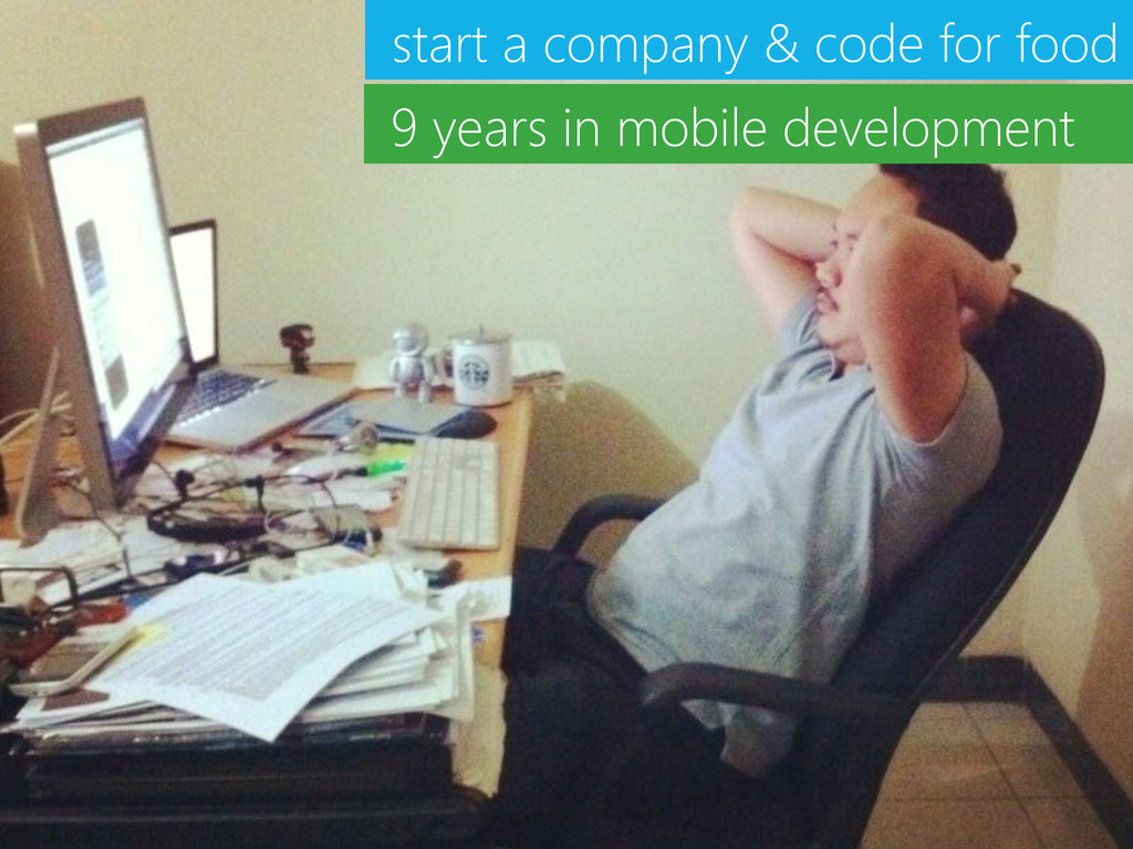 start a company & code for food 9 years in mobi...