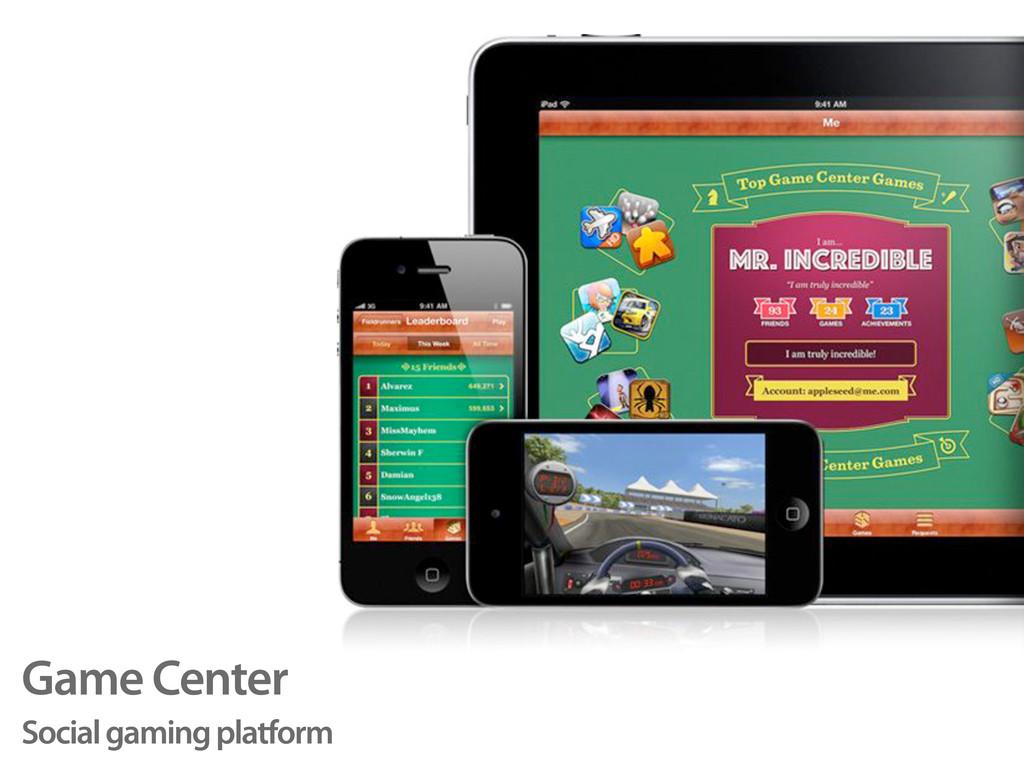 Game Center Social gaming platform