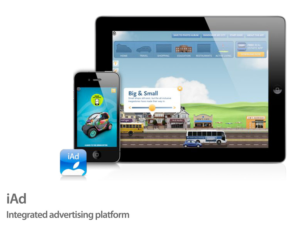 iAd Integrated advertising platform