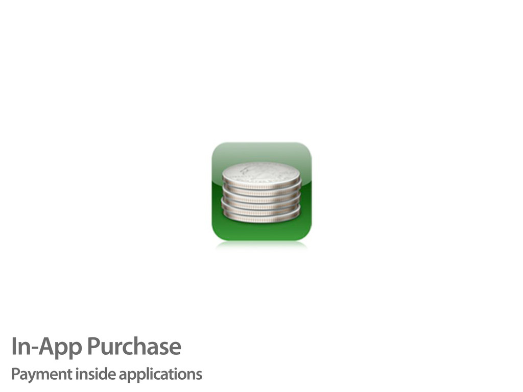 In-App Purchase Payment inside applications