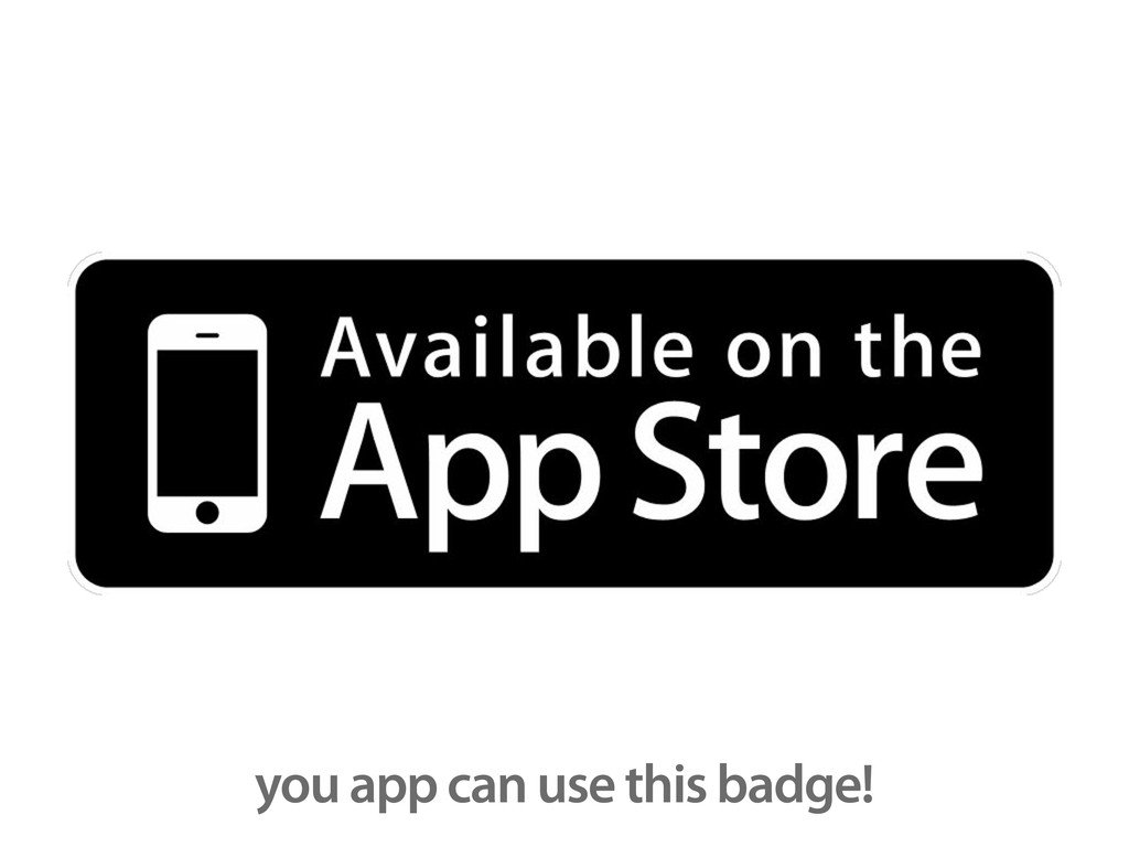 you app can use this badge!