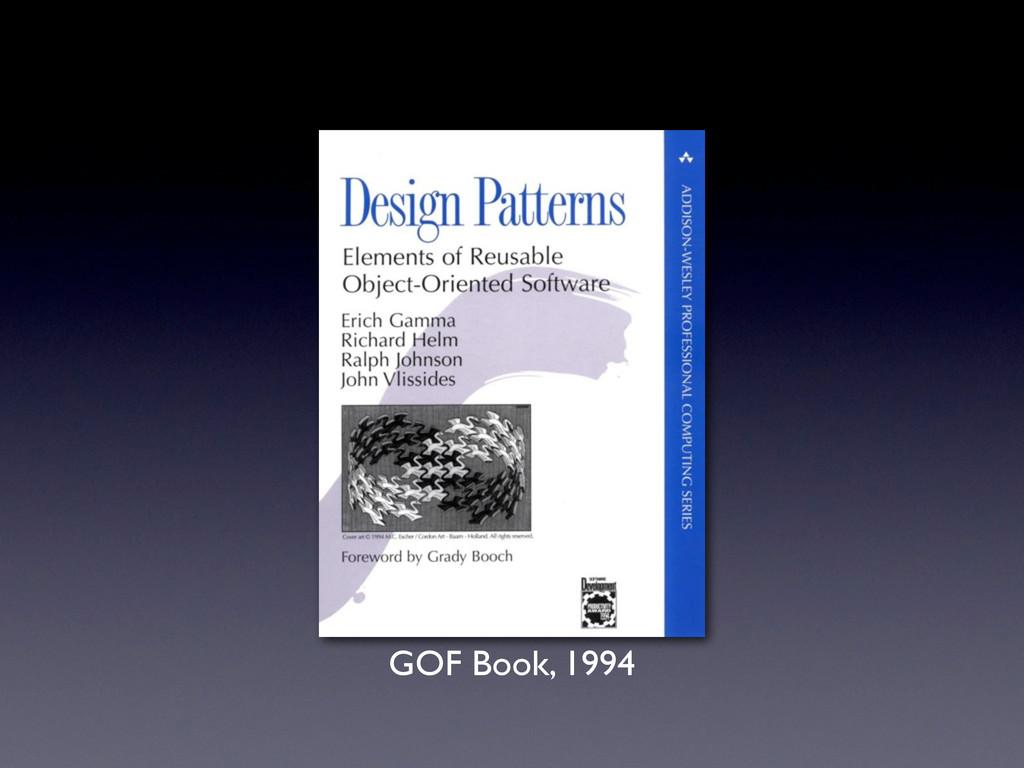 GOF Book, 1994