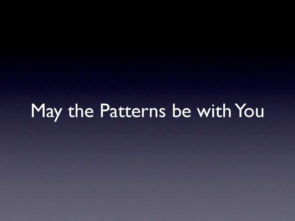 May the Patterns be with You