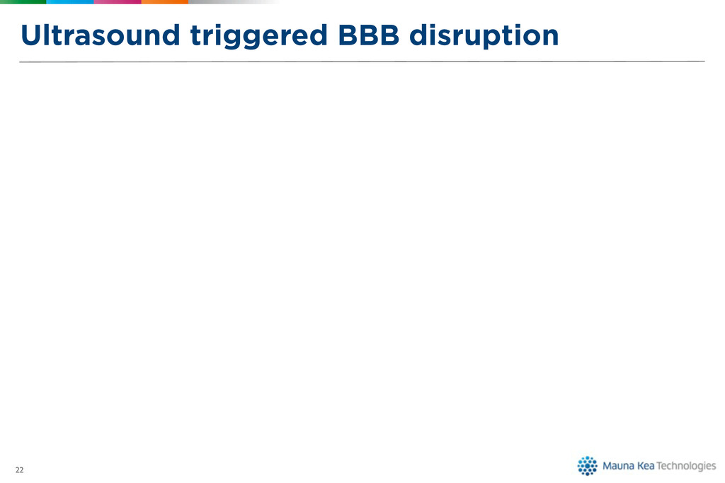 Ultrasound triggered BBB disruption 22