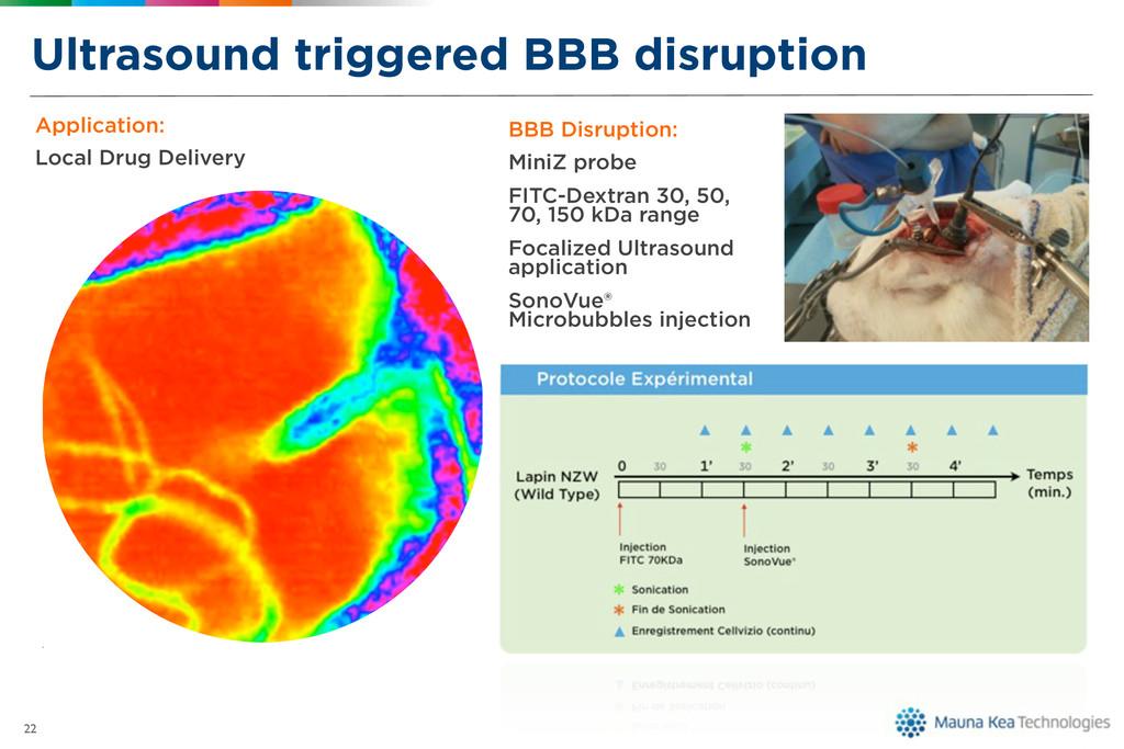 Ultrasound triggered BBB disruption 22 Applicat...