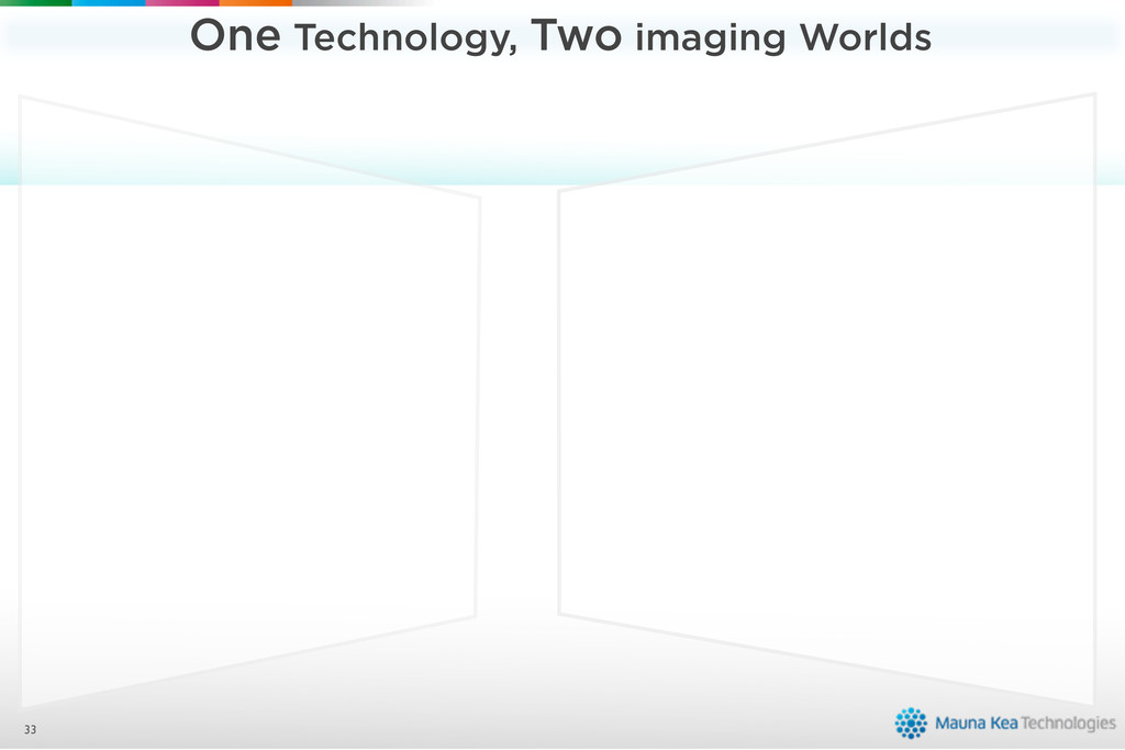 One Technology, Two imaging Worlds 33