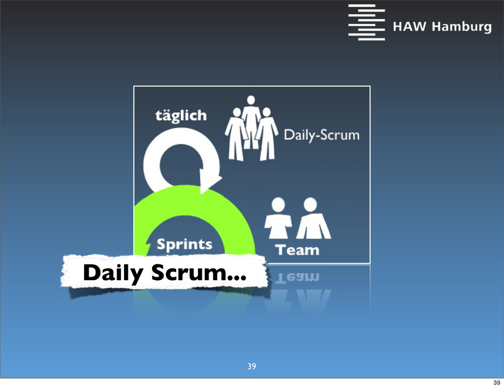 Daily Scrum... 39 39