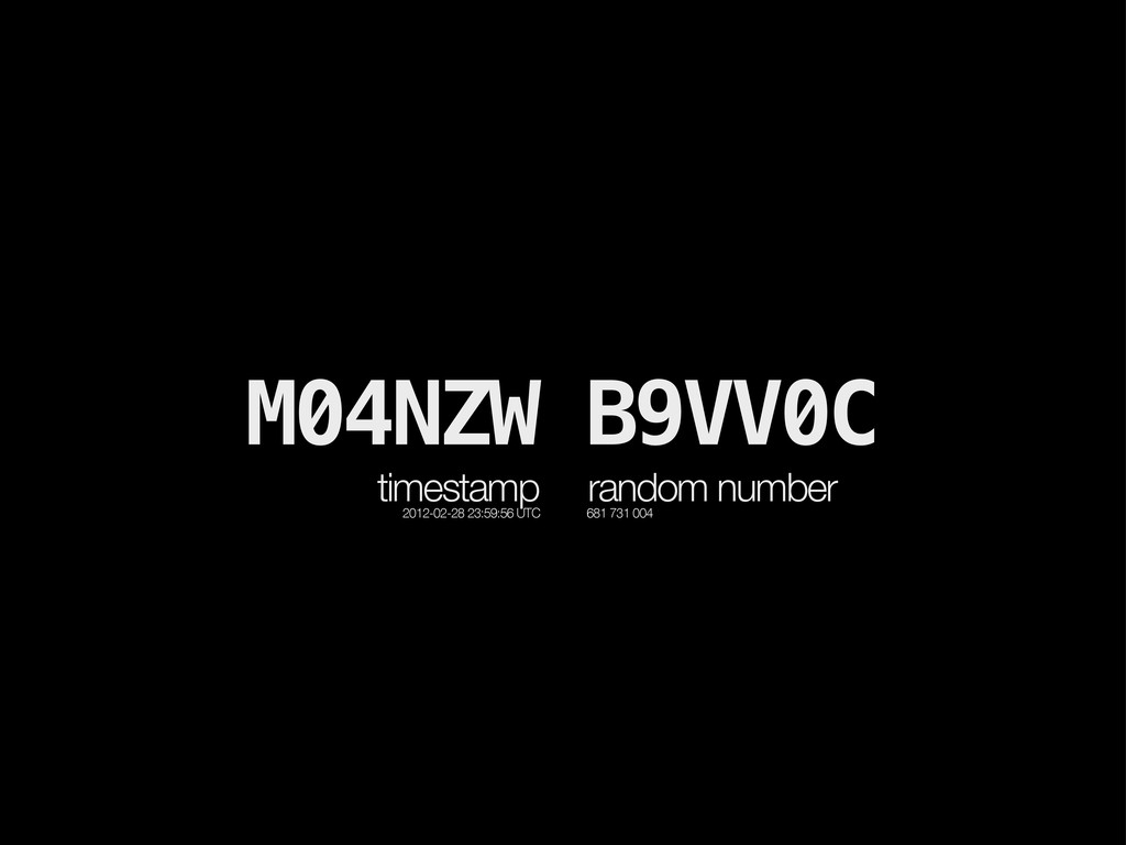 M04NZW B9VV0C timestamp 2012-02-28 23:59:56 UTC...