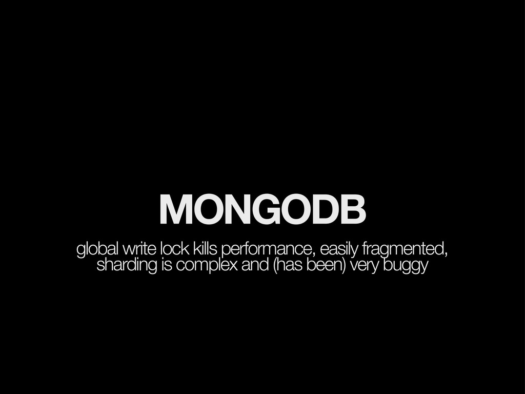 MONGODB global write lock kills performance, ea...