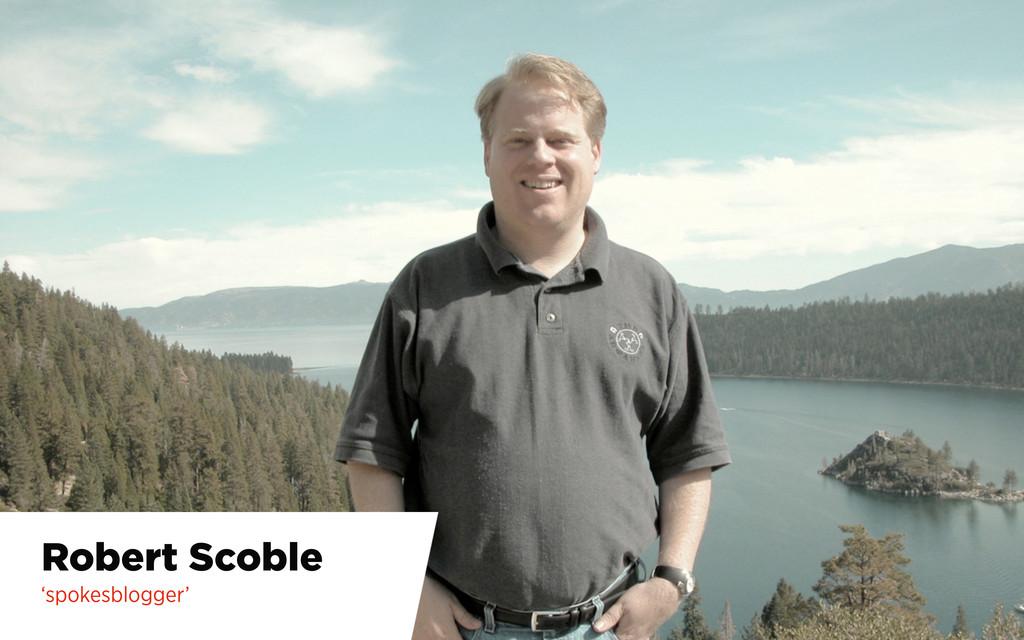 Robert Scoble 'spokesblogger'