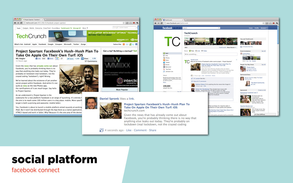 social platform facebook connect