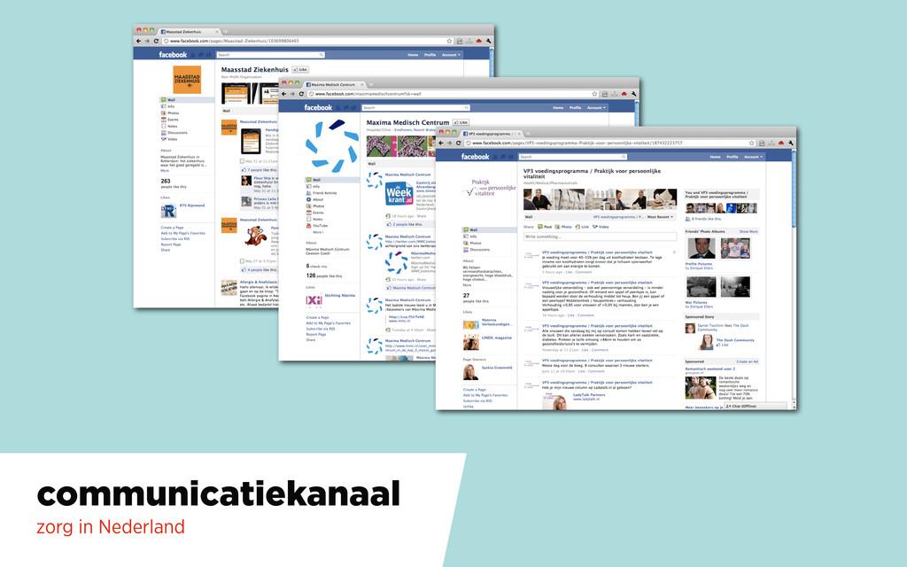 communicatiekanaal zorg in Nederland