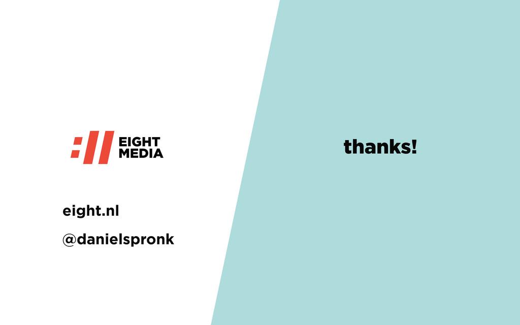 @danielspronk thanks! eight.nl