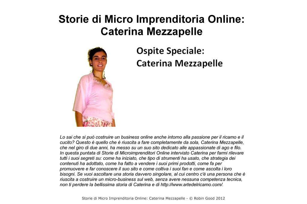 Storie di Micro Imprenditoria Online: Caterina ...