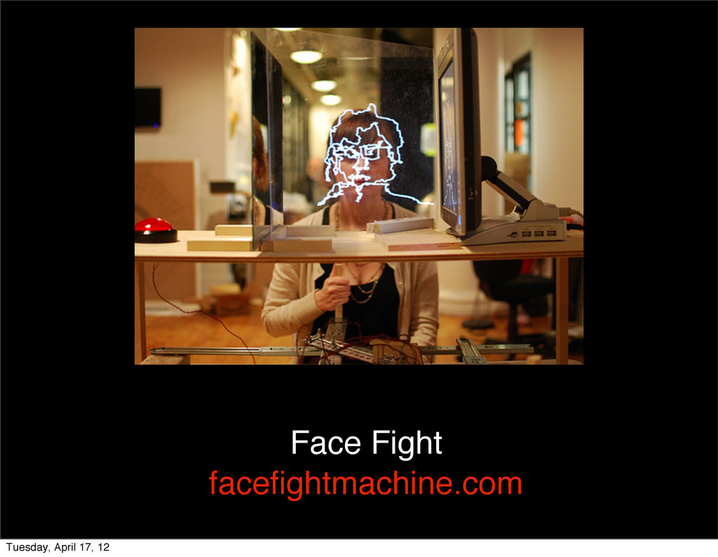 Face Fight facefightmachine.com Tuesday, April 1...