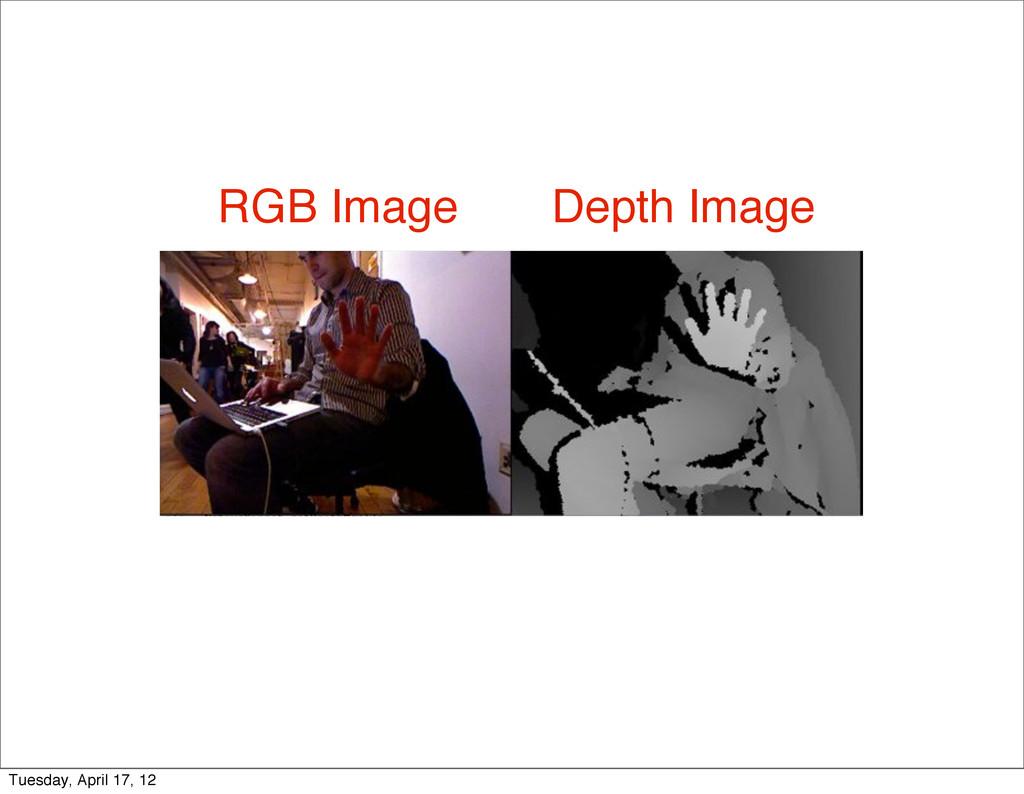 Depth Image RGB Image Tuesday, April 17, 12